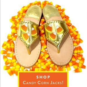 Candy corn jack Rogers sandals